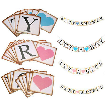 It's A Boy/Girl Bunting Banner Garland Baby Shower Party Hanging Decorations DIY