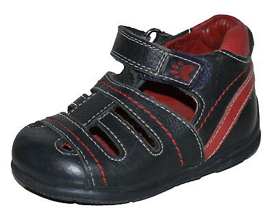 Hush Puppies Boys Blue Red Leather First Shoes Sandals Various Sizes Tightrope