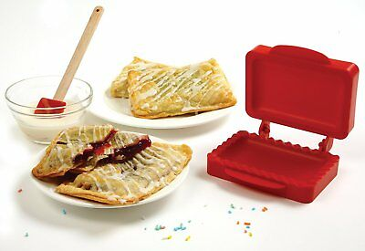 """Norpro Mini Pocket Pie Mold Red For Pastry Pizza Dough Baking 4.5"""" x 3"""" Pies"""