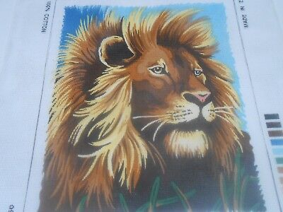 "DMC ""Lion""  Printed Tapestry Canvas only"