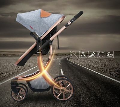 baby stroller High Landscape Luxury baby carriage pram buggy travel infant -2