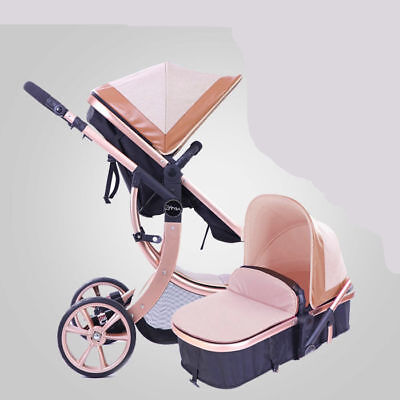 baby stroller High Landscape Luxury baby carriage pram buggy travel infant -4