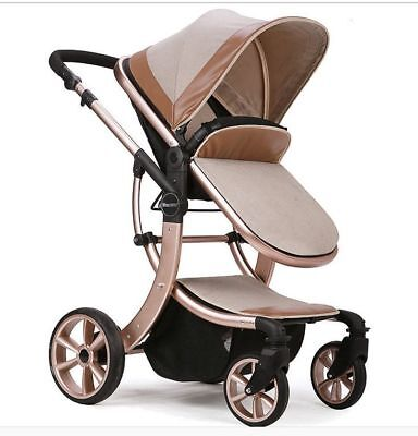 baby stroller High Landscape Luxury baby carriage pram buggy travel infant -8