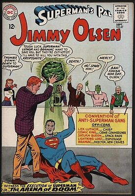 Jimmy Olsen #87  Sep 1965 Vs Luthor & Brainiac Original Owner Cents - Nice Pages