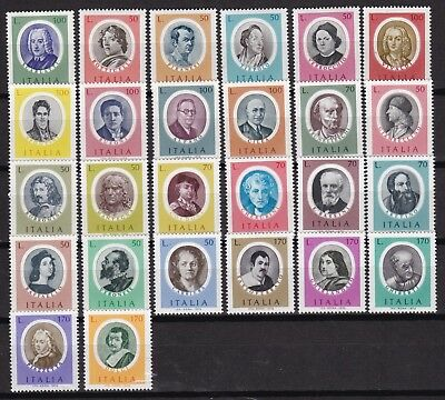 Italy Famous People (29) Mint Never Hinged