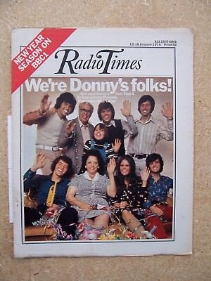 Radio Times/1974/The Osmonds/Donny Osmond/Doctor Who quarter page artwork/
