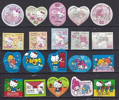 Japan 2 X Different Hello Kitty Sets (42) Used