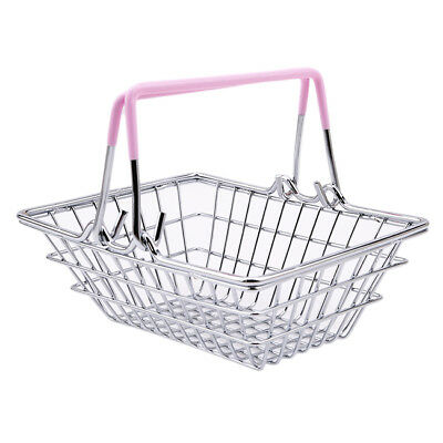 Hot Mini Children's Shopping Basket With Decorative Toy Chrome  Handles B