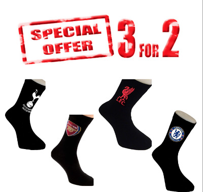 Official Mens Arsenal Chelsea Liverpool Tottenham Man City Football Socks  6-11