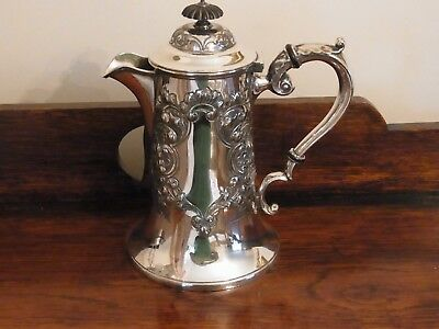 Antique Victorian Silver Plated Water Pot By Lee & Wigfull Antique Tableware
