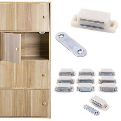 Magnetic Catch Cupboard Door Latch Cabinet Magnet Strong with Screws White #123