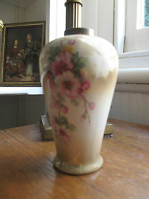 Antique Vintage German Cherry Blossom Vase EPNS Rim