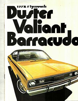 1972 Plymouth Barracuda, Duster, Valiant Deluxe Color Sales Catalog