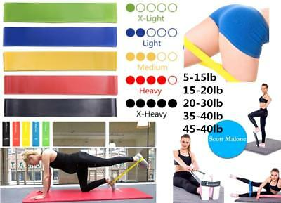 Resistance Bands Loop Yoga Exercise Training Fitness Crossfit Home Gym Workout