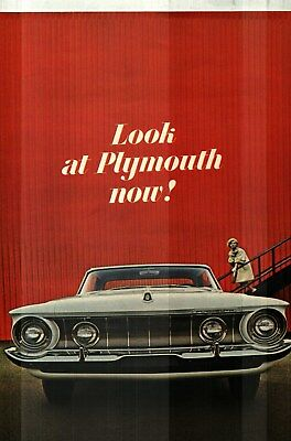1962 PLYMOUTH FURY, BELVEDERE and SAVOY DELUXE COLOR SALES CATALOG