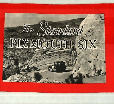 1933 Plymouth Standard Six Sales Catalog