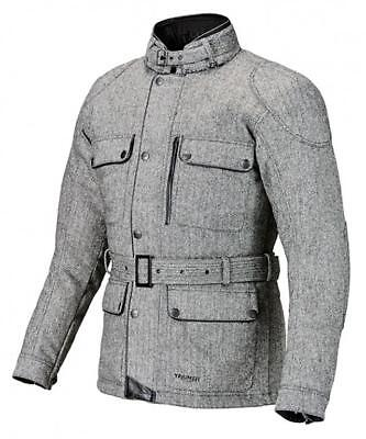 Triumph Motorcycles Mens Digby Tweed Cotton Riding Jacket NEW 60% OFF RRP