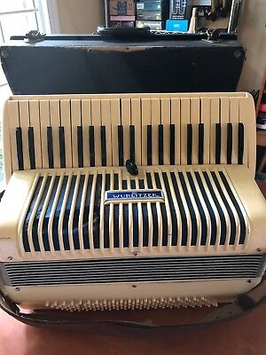 Vintage Wurlitzer Accordion w/case