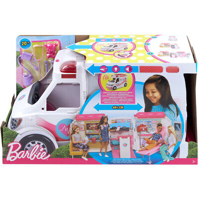Barbie Care Clinic Vehicle Doll Playset NEW