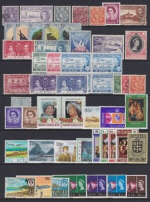 ST LUCIA - Selection of mint & used stamps on page, just as scan - Ref F255