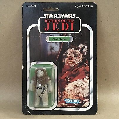 Vintage Kenner Star Wars ROTJ Figure - Ewok Chief Chirpa 77A Factory Sealed MOC