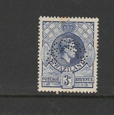 Swaziland 1938/54 3d Perfed SPECIMEN MM SG 32s