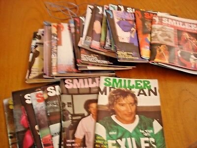34.smiler Offical Rod Stewart Fan Club Magazines 1990-99.+Membership Cards