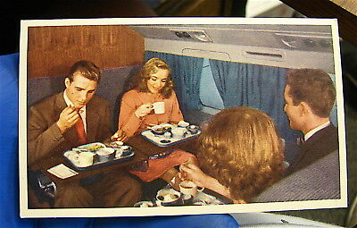 Vintage 1950's  United Airlines Advertising for DC-6 Meal on Mainliner Cruise