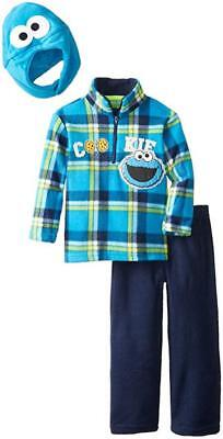 Sesame Street Toddler Boys Cookie Monster 2pc Pant Set W/Hat Size 2T 3T 4T
