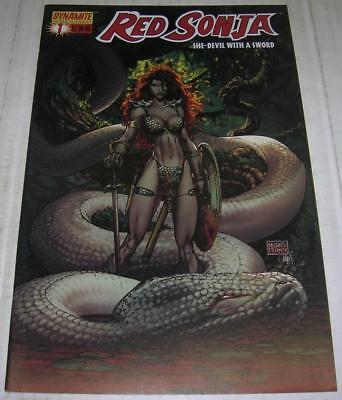 RED SONJA #1 HOT COVER A by MICHAEL TURNER (Dynamite 2005) (VF-) RARE