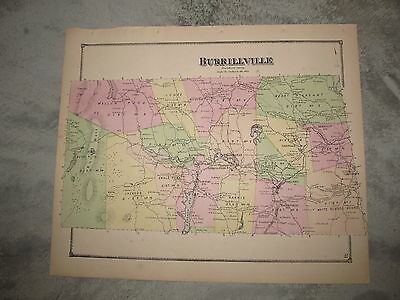 1870 Burrillville, Ri. Map That Has Been Removed From The Beer's 1870 Atlas