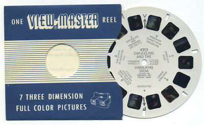 DARJEELING and the HIMALAYAS India 1952 Scarce ViewMaster Single Reel 4313