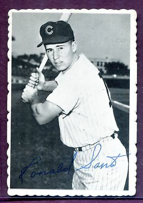 RON SANTO ~ 1969 Topps Deckle Edge Baseball Insert Card #19 ~ Grade: NM (B67)