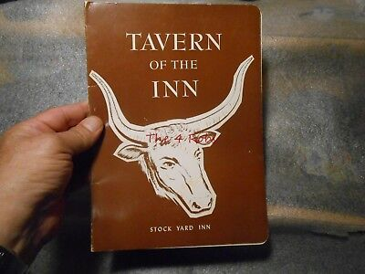 Vintage Tavern of the Inn Stock Yard Inn Menu Chicago Stockyards