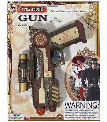 Steampunk Science Fiction Mens Women Weapon Costume Pistol Space Gun