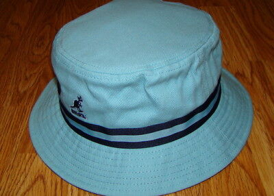 7ff3959b675 Kangol Headwear Mens Stripe LaHinch Bucket Hat Color Light Blue
