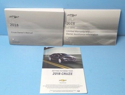18 2018 Chevrolet Cruze owners manual BRAND NEW