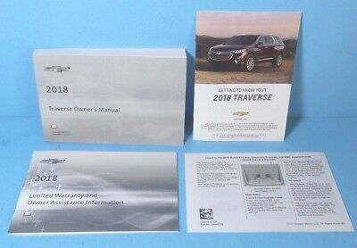 18 2018 Chevrolet Traverse owners manual BRAND NEW