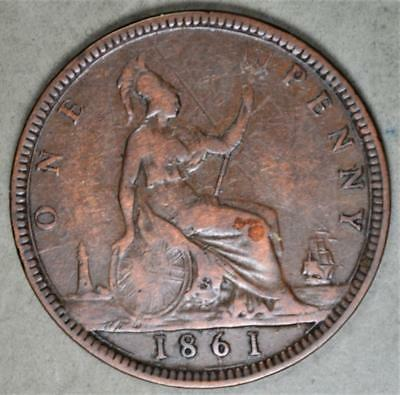 Great Britain 1861 Penny