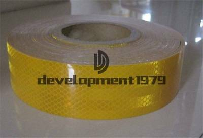 REFLECTIVE New CONSPICUITY TAPE SAFETY YELLOW 3m=10' CCC=DOT-C2
