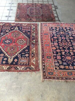 antico-swiss 3 Beautiful Antique TURKISH rugs 3`4x4`6 and 3`3x4`1 and 3`3`5 ft