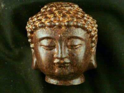 Great Chinese Boxwood Hand Carved *Buddha's Head* Statue A135