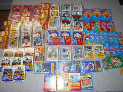1984-1991 Baseball Card Lot of 57 Unopened Packs Over 1,750 Cards per Lot