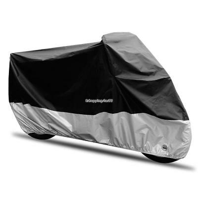 XXL Motorcycle Cover Motorbike Scooter Waterproof Sun Dust Protector Lock Hole