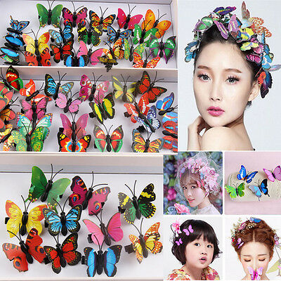Wholesale Girl Women Butterfly Hair Clips hairPin Wedding Bridal Accessories 4CM