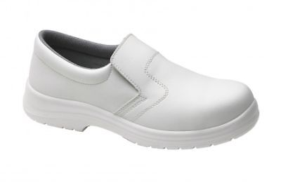 Size UK 4 EU 37 Supertouch Food X Slip On Lightweight White Safety Shoes New