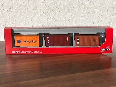 Hapag Lloyd//TAL//Triton #076432-003 HERPA Zubehör 1:87//H0 Container-Set 3x20 ft