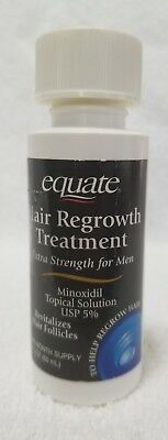 Equate HAIR REGROWTH TREATMENT Extra Strength Men One-Month Supply 2 oz/60mL New