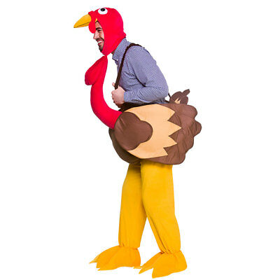 Adult Step In Turkey Costume Animal Mens Womens Fancy Dress Outfit