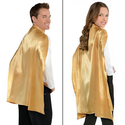 Gold Cape Adult Or Children Superhero Magic Party Costume Fancy Dress
